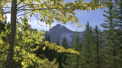 Autumn color and mountain 03 Stock Footage