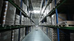 Industrial warehouse with boxes 2 - stock footage