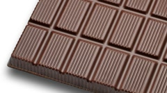 grooved chocolate bar - stock footage