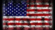 USA SMOKE FLAG - HD1080 Stock Footage