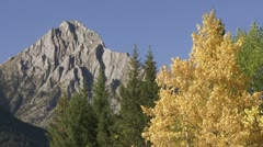 Autumn color and mountain Stock Footage