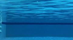 Outdoor Swimming Pool Underwater 02 Stock Footage