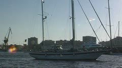 Sailing yacht 91 Stock Footage