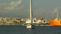Sailing yacht 85 Stock Footage