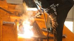 Metal welder Stock Footage