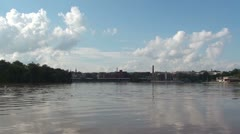 Potomac River, Georgetown on horizon Stock Footage