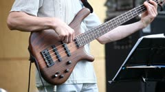 Playing the bass guitar 2 Stock Footage
