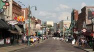 Stock Video Footage of Beale Street In Memphis