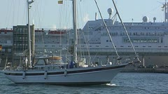 Sailing yacht 78 Stock Footage