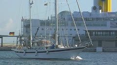 Sailing yacht 77 Stock Footage