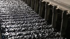Process of coal preparation Stock Footage