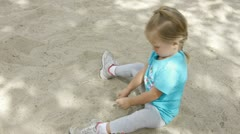 Stock Video Footage of playing in sand