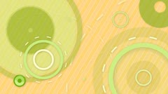Green orange circles and lines seamless loop background Stock Footage