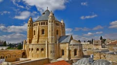Basilica Church of the Dormition, Jerusalem Stock Footage