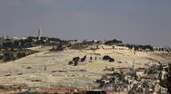 Stock Video Footage of Mount of Olives Cemetery