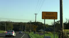 Don't Tailgate sign - stock footage