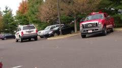 Fire trucks Stock Footage