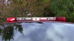 Fire truck light bar Stock Footage