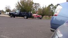 Fire truck responds Stock Footage