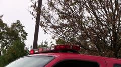 Fire truck lights Stock Footage