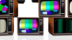 Many television Stock Footage