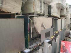 Large piles of old refrigerators ready for processing. Stock Footage