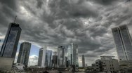 Stock Video Footage of Dark clouds over Frankfurt