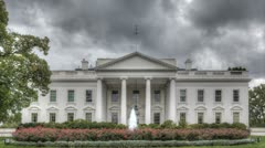 Dark clouds over the White House - stock footage