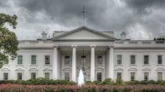 Dark clouds over the White House Stock Footage