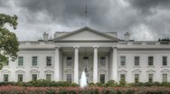 Stock Video Footage of Dark clouds over the White House