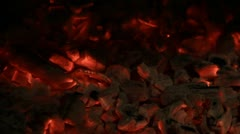 Metal poker ted the hot coals Stock Footage