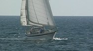 Sailing yacht 47 Stock Footage