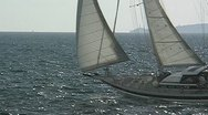 Sailing yacht 45 Stock Footage