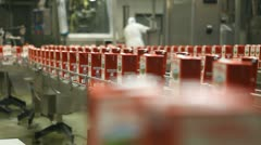 production line, packing food - stock footage