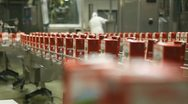 Production line, packing food Stock Footage