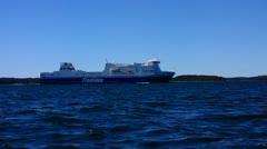 Scandinavia Finland The Turku Archipelago Finnlines cruise Stock Footage