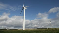 Dun Law Wind Farm, Scotland - stock footage