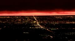 Fiery Sunrise over Denver - stock footage