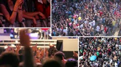 Crowd at a rock concert - composition Stock Footage