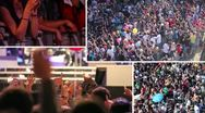 Stock Video Footage of Crowd at a rock concert - composition