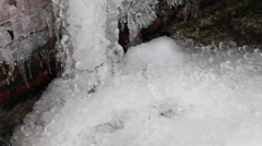 Icicles thaw Stock Footage