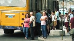 Cuba Havana Bus 02 Stock Footage