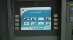 ATM, Banca Popolare di Novara, Bancomat Stock Footage