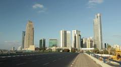 Office building skyline Timelapse Israel Stock Footage