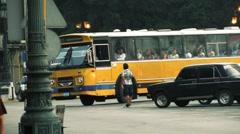 Cuba Havana Bus 01 Stock Footage