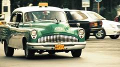 Cuba Havana Classic Taxi 01 Stock Footage