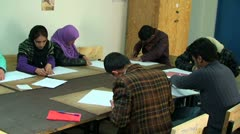 Afghanistan students learning in the class - stock footage