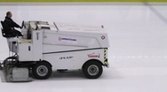 Stock Video Footage of Battery powered ice resurfacer
