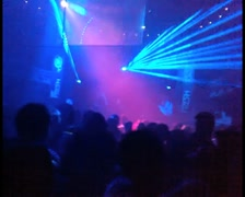 Partying in a nightclub - stock footage