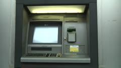 Cash machine, ATM, Bancomat, UniCredit Banca Stock Footage